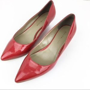 Red Bandolino Pointed Toe Low Wedge Heels SZ 6